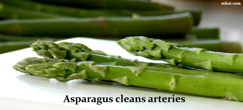 Asparagus cleans arteries