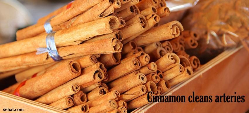 Cinnamon cleans arteries