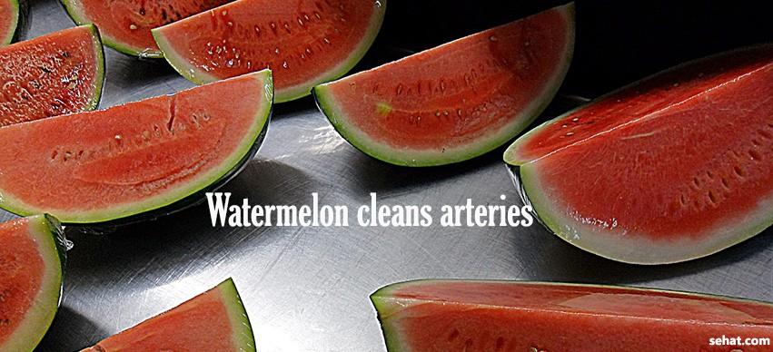 Watermelon cleans arteries