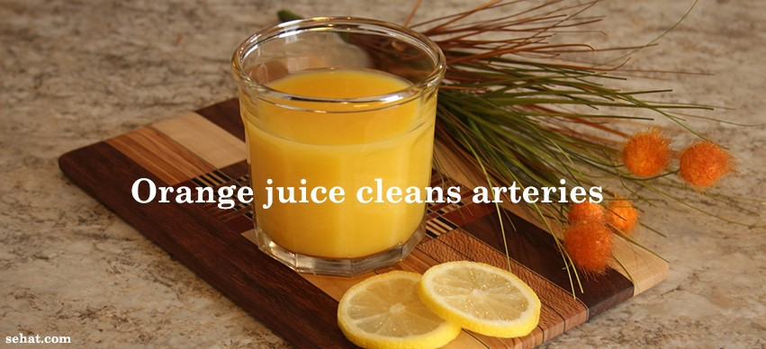 orange juice cleans arteries