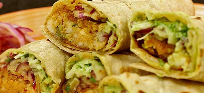 Low fat Paneer wrap snack recipe