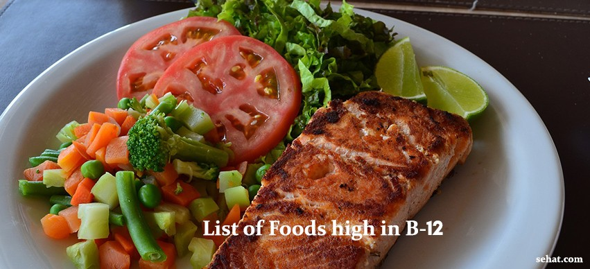 List of foods high in B-12