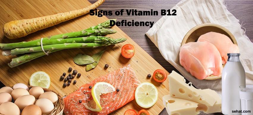 signs of vitamin B-12 deficiency