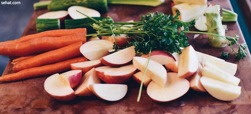 Fresh fruits and vegetables improves heart health