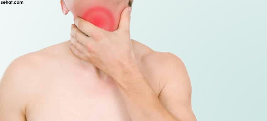 common causes for sore throat and neck pain