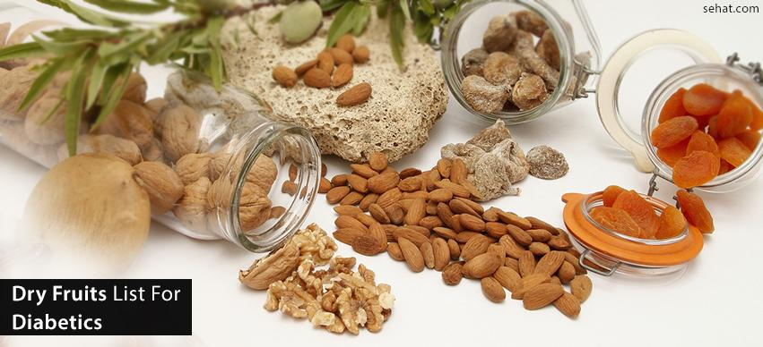 Dry fruits list for diabetics