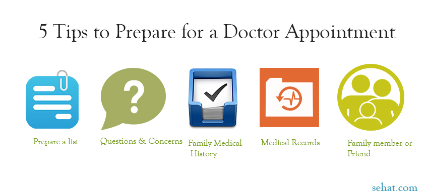 5 Tips to Prepare for a Doctor Appointment