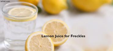 How To Remove Freckles With Lemon Juice?